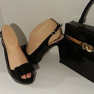 Vince Camuto black patent leather heels